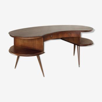 Dutch Wenge Boomerang Desk, 1960s