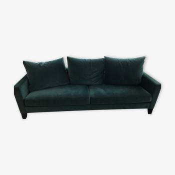 Gilles Nouailhac emerald green velvet sofa