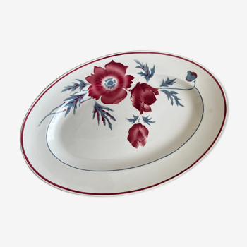 Oval dish Sarreguemines