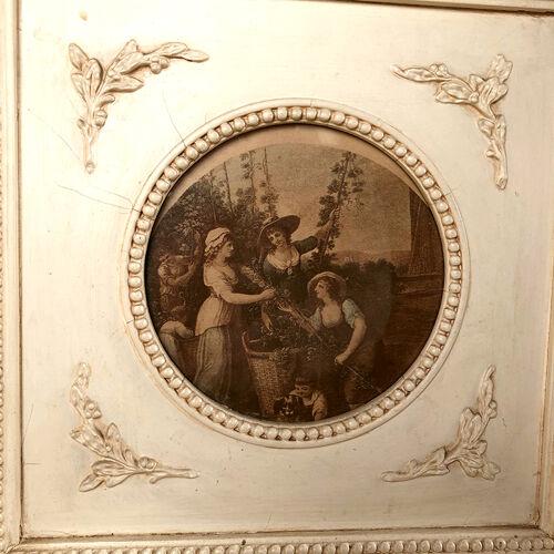 Paravent de style Louis XVI à trois feuilles