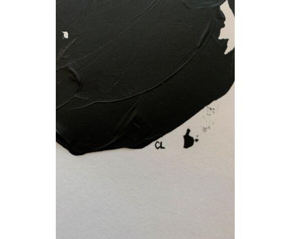 Esquisse 05 peinture sur papier numérotée
