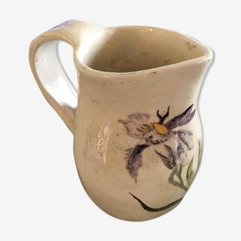 Pichet décor iris