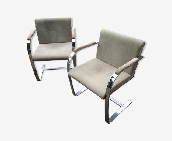 Paire de fauteuils Brno de Ludwig Mies van der Rohe