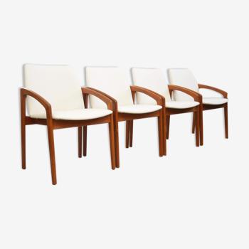 Ensemble de quatre chaises de salle à manger 'Paper-Knife' dans le style de Kai Kristiansen
