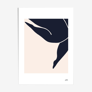 "Illustration N°02 "" L'enjambée "" collection "" Les muses """
