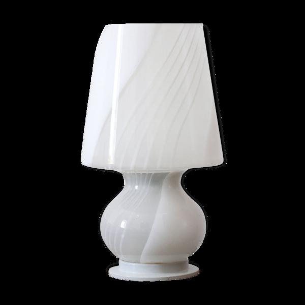 Lampe de table en verre des années 1960