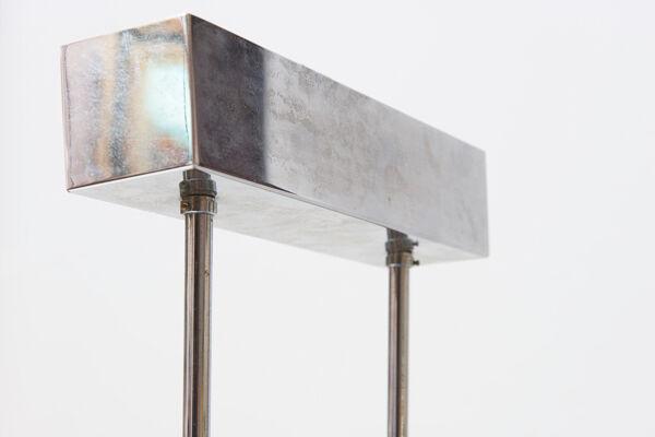 Suspension vintage en chrome et verre de Murano