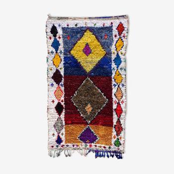 Tapis marocain berbère authentique boucherouite 145x235cm