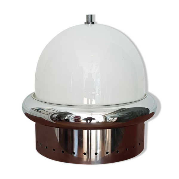 Lampe de table Esperia metal chromé et plexi années 1970