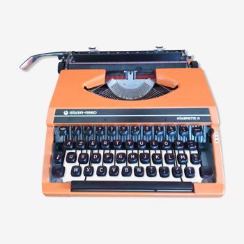 Machine à écrire Silver Reed Silverette S orange - Vintage