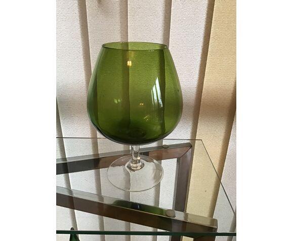 Bouteille et 2 vases en verrerie italienne des années 70