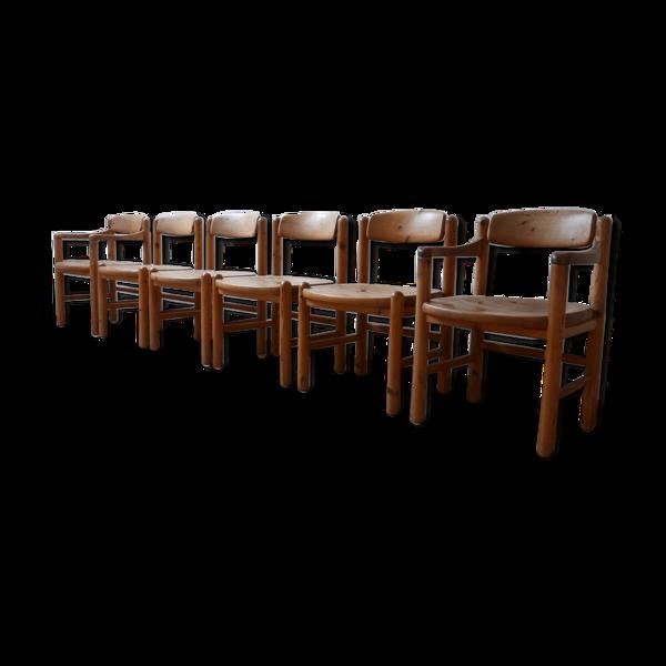 Selency Ensemble de six chaises à manger du milieu du siècle par Rainer Daumiller