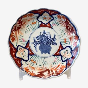 Assiette porcelaine Imari Japon XIXème siècle