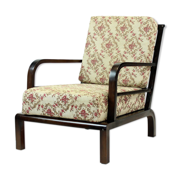 Chaise de salon vintage en bois, Tchécoslovaquie Circa 1950s
