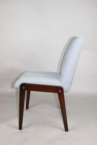 Ensemble de 4 chaises aga vintage par Józef Chierowski, 1970 Fauteuil des années 1970, jaune Cor, design Reinhold Adolf