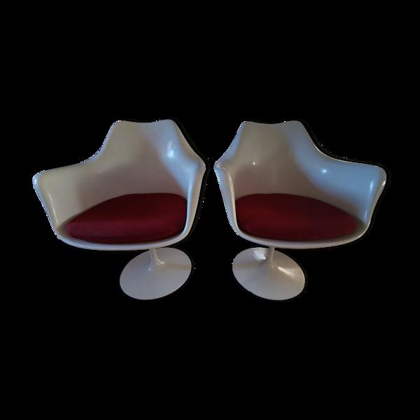 Paire de fauteuils Tulip par Eero Saarinen pour Knoll 1960