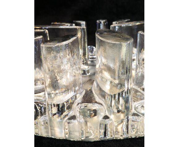 Dessous de plat en cristal par George Shutte glass design west germany