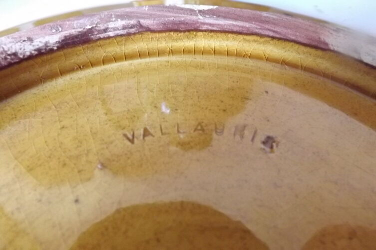 Ensemble a liqueur céramique Vallauris Francis Bongioanni vintage 1950