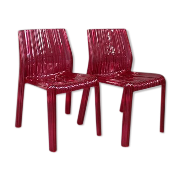 Selency Pair of Frilly chairs