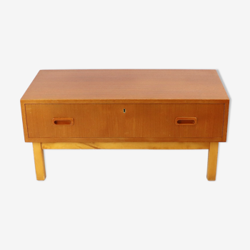 Commode teck basse