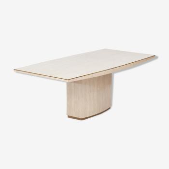 Travertine dining table 1970