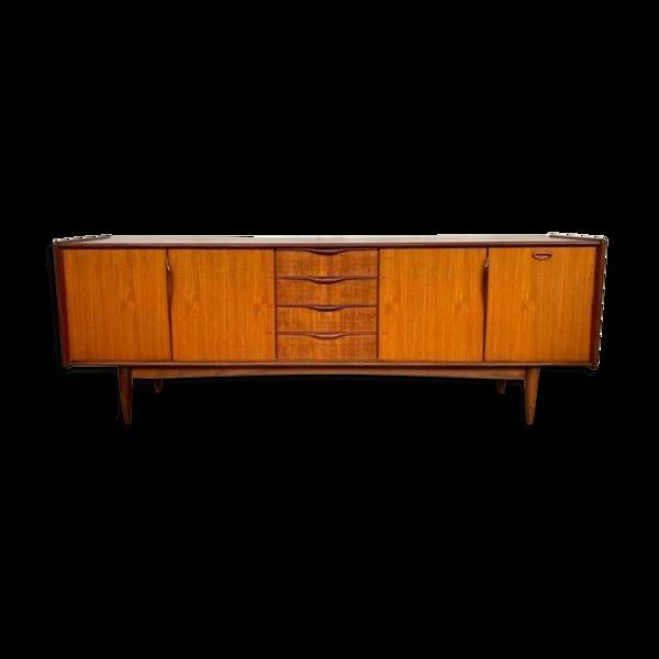 Enfilade en teck scandinave design vintage Editeur Roche Bobois 1966 Longueur 240 cm