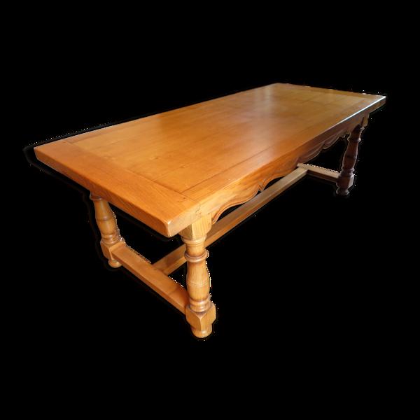 Selency Table René Trotel U92 en châtaignier massif