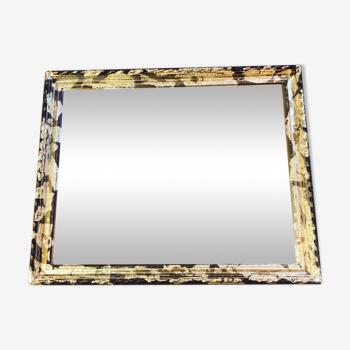 Miroir stuck doré 47x37cm