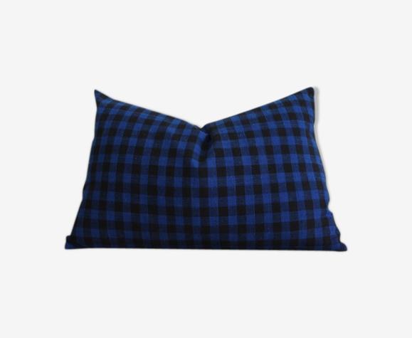 Housse de coussin tissu traditionnel  indigo