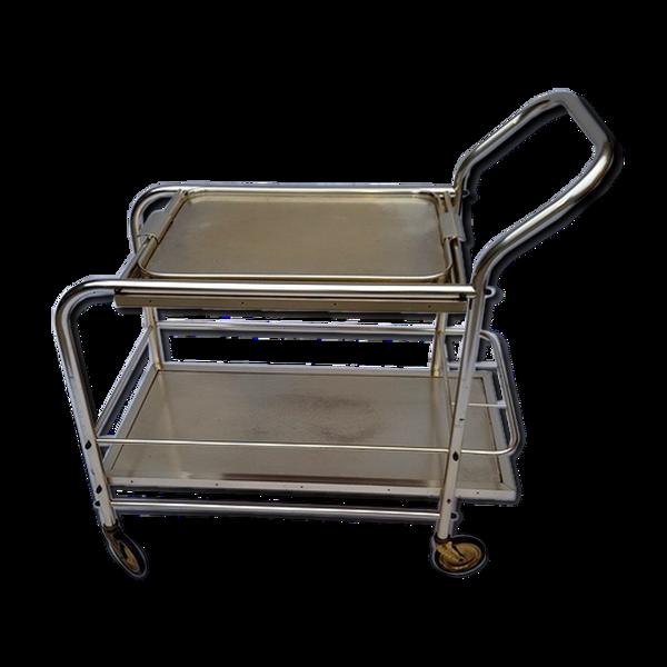 Bar roulant en métal chromé 1970