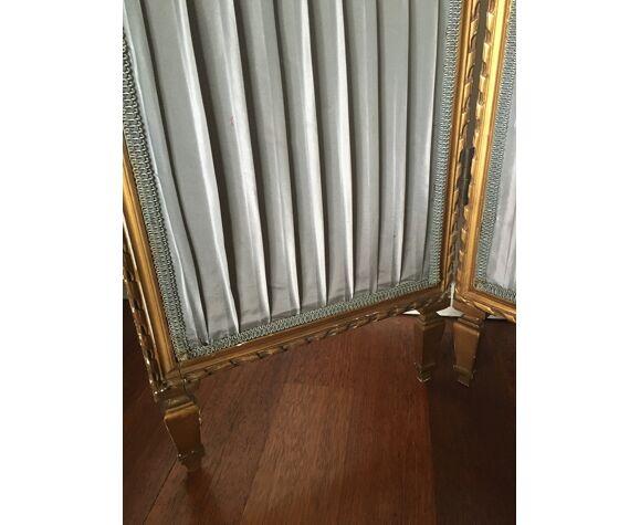 Charmant paravent style XVIIIe siècle Louis XVI  cheminée gris dorure
