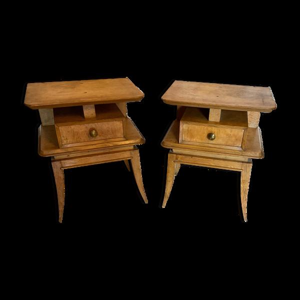 2 tables de chevet, 1950 style Asie