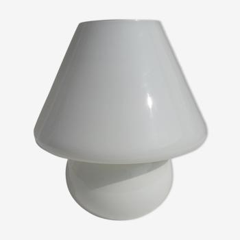 Glass mushroom lamp