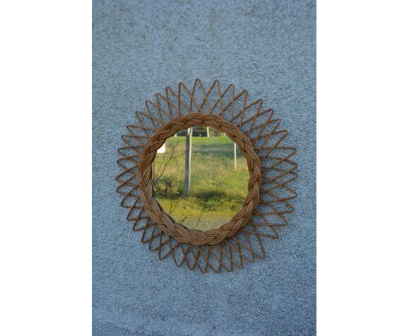 Miroir en rotin 45cm