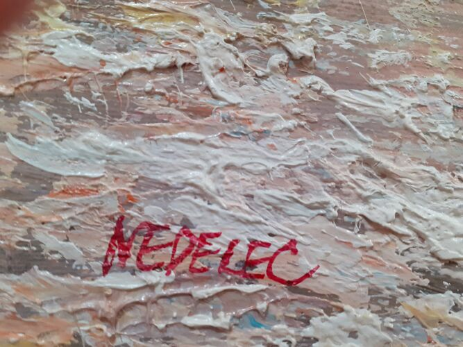 Tableau paysage breton signé nedelec