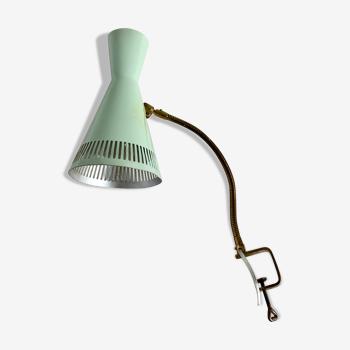 Lampe de table italienne en laiton du milieu du siècle, années 50
