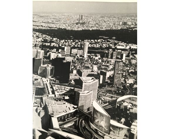 Photo panoramique de l'Arche de La Défense, années 90
