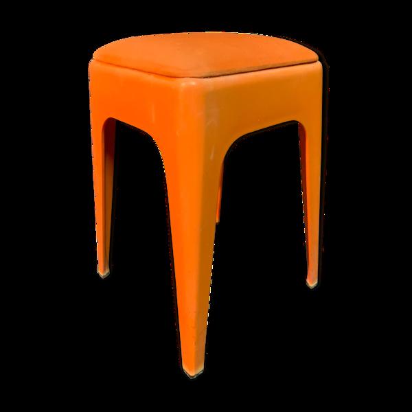 Vintage tabouret orange, 1960