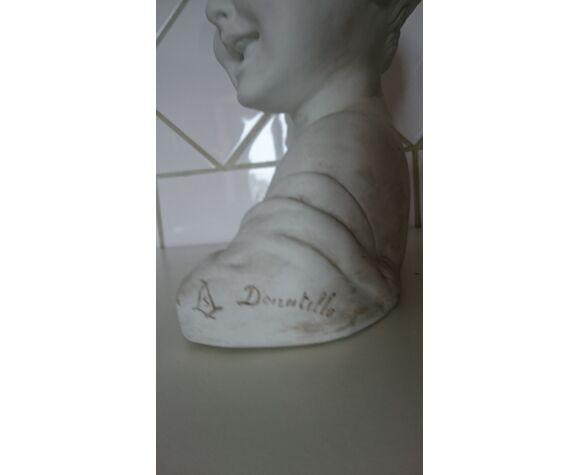 Buste enfant rieur d'après Donatello en biscuit de Sèvres