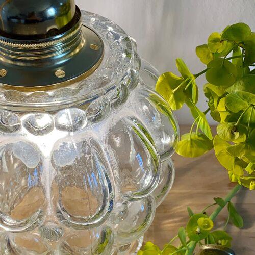 Baladeuse tulipe vintage en verre moulé