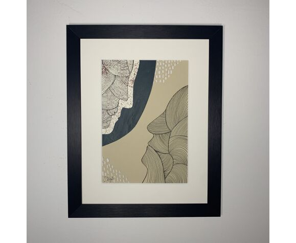 Collage 'Window VI' série 'Silhouettes'