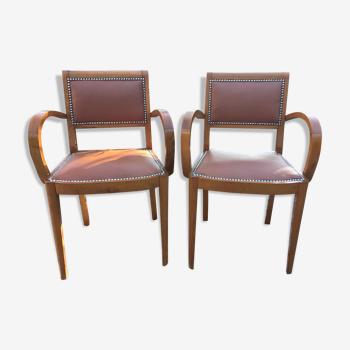 Pair of 50s bridge chairs