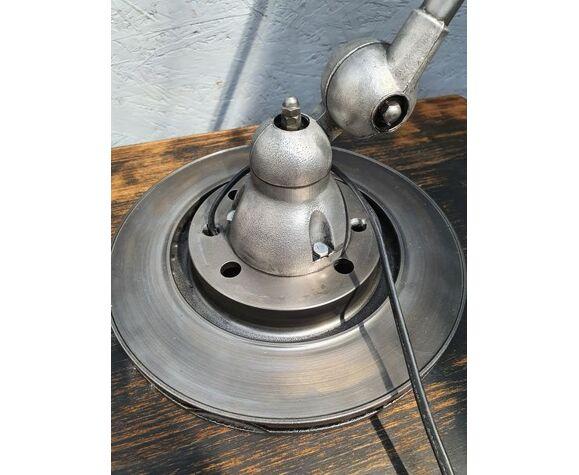 Lampe d'atelier Jielde deux bras patine graphite