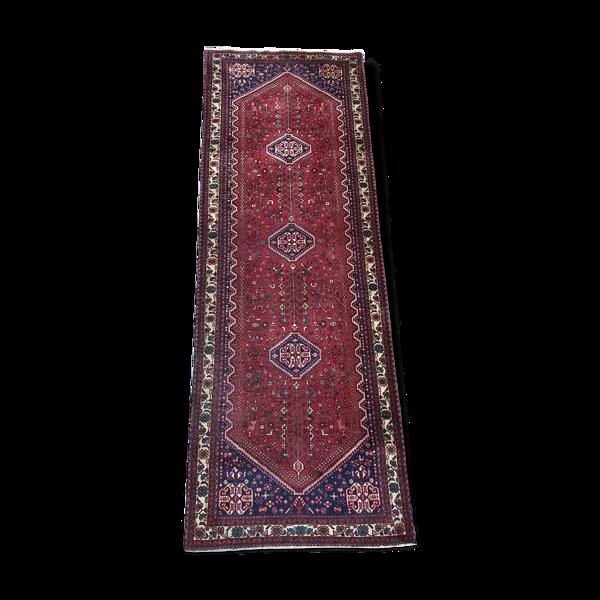Tapis ancien couloir persan abadeh fait main 107x297cm