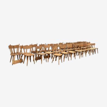 Série de 40 chaises bistrot ´