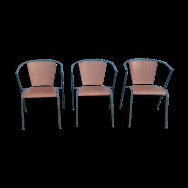 Lot de 3 fauteuils Mullca