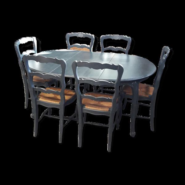 Selency Table et ses 6 chaises