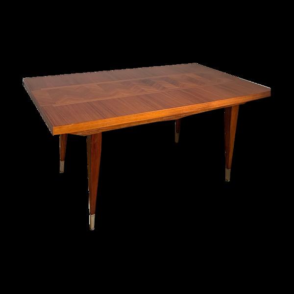 Table style scandinave en acajou