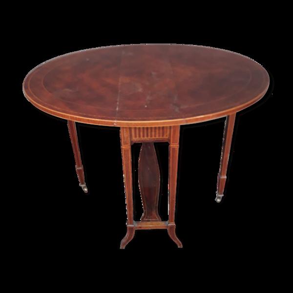 Table pliante anglaise en plaquage d acajou
