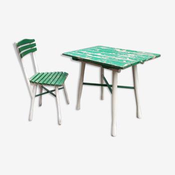 Table de jardin et sa chaise 1930
